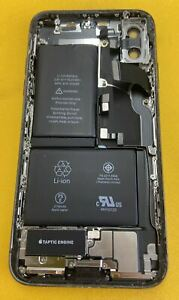 Apple iPhone X Black Housing Frame Back Cover OEM Small Parts 82% Battery