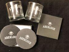 Aberlour Scotch Slate Coasters Rocks Glass Gift Set