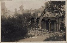 WW1 Buildings destroyed by shell fire German Bombardment of North End Lowestoft