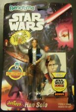 1993 STAR WARS JUSTOYS BEND-EM HAN SOLO FIGURE NEW SEALED