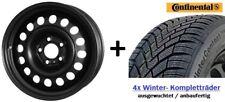 4x Winterräder für neuen VW Polo AW, Ibiza KJ Conti Reifen 185/65 R15 Felgen NEU
