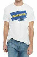 Blockbuster Video BLOCKBUSTER AND CHILL T-Shirt White NWT Licensed & Official