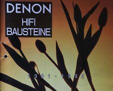 Denon HiFi-Bausteine Katalog 1991 1992 40 Seiten ORIGINAL POA Verstärker