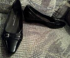 Attilio Giusti Lemobruni 7 37.5 black Italian patent leather wedge heels shoes