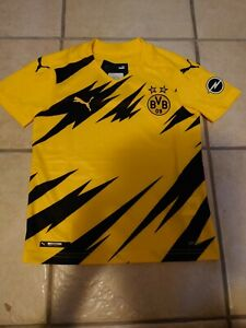 Puma BVB Borussia Dortmund Trikot Kinder 2021 ohne Sponsor 1 & 1 Gr. 128 152 176