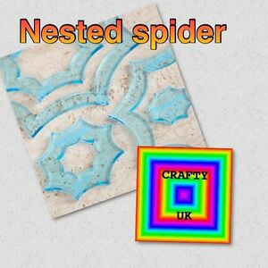 """4 Nested Spider Web Templates 4mm Acrylic Fussy Cutting Patchwork 5"""" to 2"""""""
