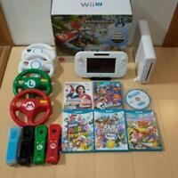 NINTENDO Wii U Mariokart Console Controller set Mario Party for4 Smash Bros soft