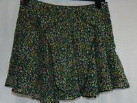 River Island Floral Mini Skirt Flowy Ra Ra Multicoloured Short Summer Size 10
