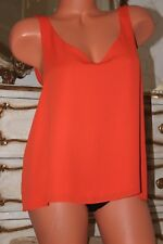 R1 River Island Orange Loose Fit  Top Blouse with a back detail  Size 12
