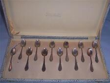 Italian demi tasse spoons 800 Silver with Box Set of 12 Vintage