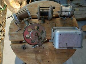 Vintage Antique Fishing Reel Gear Lot Meiselbach Expert 17 HR Ross Bait Baffler