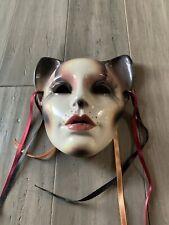 Beautiful Clay Art 1988 Ceramic Cat Facemask