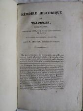 MEMOIRE HISTORIQUE SUR VLADISLAS PRINCE POLONAIS inhumé en 1388 à Dijon, 1832.