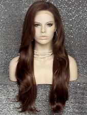 Brown Blonde Mix Heat Safe Full LACE FRONT WIG Extra Long Beach Wavy 8/12/27