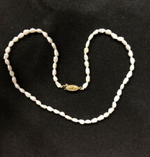 "16"" Fresh Water Pearl Necklace high luster, ornate fishhook clasp"