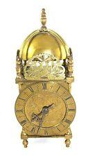 Large Antique Style Brass Lantern Clock FRENCH Movement : RUSSELLS LTD LIVERPOOL