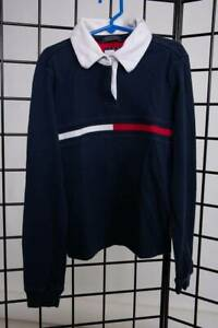 Kids sz: L Tommy Hilfiger Long Sleeve Shirt -Blue with white collar -100% Cotton