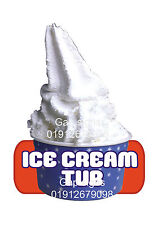 ICE CREAM Van Adesivo-GELATO VASCA DA BAGNO-Red Label Z155