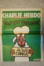 Charlie Hebdo Numero 1178 Tout est pardonné Je suis Charlie Journal 14/01/2015
