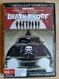 Excellent Death Proof Deathproof DVD (Reg 4) Tarantino Grindhouse 2 Disc Set