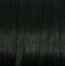 Black Silk Ribbon 100% Pure 4mm Embroidery - 3 mtr