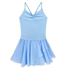 NEW Girls Kids Gymnastics Dancewear Ballet Dress Tutu Skirt Leotard Dress 2-12Y