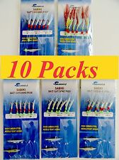 10 packs size #6 sabiki bait rigs 6 hooks offshore saltwater fish lures - combo