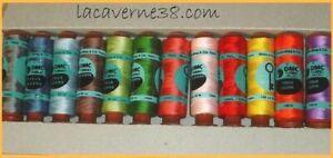 Lot 24 bobines tubinos fil à coudre DMC main ou machine couture mercerie
