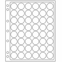 Lighthouse ENCAP 22/23 Clear Pages for 48 Round Coin Capsules  - Perfect for $2