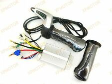 24V LED POWER DISPLAY THROTTLE & 250w Brush Controller Box FOR Electric Bicycle