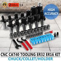 CAT40 Tooling Kit for Haas Fadal CNC Mill-ER Chuck Collet Holder ER32/16