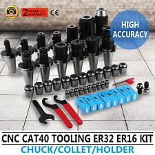 CAT 40 Tooling Kit for Haas Fadal CNC Mill-ER Chuck Collet Holder ER32/16 Steel