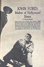 JOHN FORD 1953 WESTERN FILM DIRECTOR HOLLYWOOD & MILITARY CAREER PICTORIAL