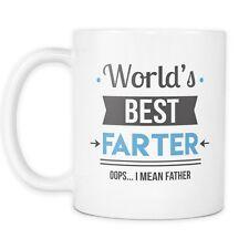 World's Best Farter I Mean Father Mug - 11oz Ceramic Coffee Mug or Tea Cup