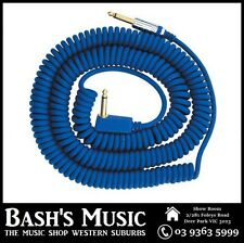 VOX VCC090 Blue Coiled Guitar Cable 9 Metres with Bag