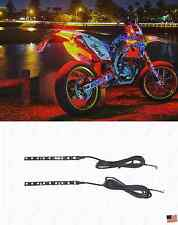 2x Red Led Strip Light Rear Tail Running or Brake Light Supermoto DirtBike
