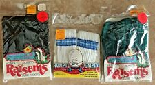 "Set of 3 Vintage baby tube bootie socks/crew socks 2-12 "" grow with your child"""