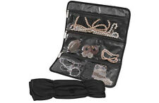 Travelon Rolling Jewelry Case Travel Packing Accessory - Black