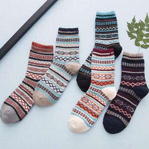 1Pair Men's Warm Winter Thick Wool Cotton Blend Cashmere Casual Dress Long Socks