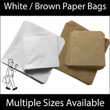 More details for white / brown kraft paper bag for food sandwiches groceries etc all sizes