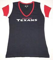HOUSTON TEXANS NFL Team Apparel 5th & Ocean by NEW ERA Women's T-Shirt M