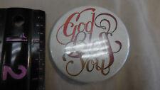 """GOD BLESS YOU""   Pinback Pin Button"