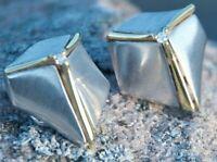 GÜNTHER  Bijou Jeunesse DESIGN Ohrringe  925 Silber 750 Gold Futurist Modernist