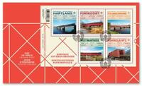 2019 Canada 📭 HISTORIC COVERED BRIDGES Souvenir Sheet First Day Cover; FDC 📬