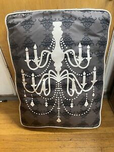 """PETPLAYSF PET PLAY SF 34"""" X 25"""" X 6"""" DOG BED PILLOW GRAY CHANDELIER PRINT"""
