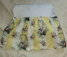 New ListingLaura Ashley Isabelle Rose Yellow Striped Floral Bedskirt Twin Size Floral