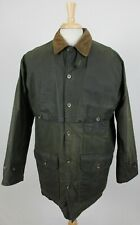 Polo Ralph Lauren Vintage USA Wax Cotton Plaid Lined Hunting Jacket Mens Medium
