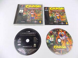 Mint Disc Playstation 1 Ps1 Crash Bandicoot 1 I First Game Black Label Free P...