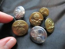 ANTIQUE VINTAGE LARGE LOT MILITARY BRASS COAT BUTTONS GOLD SILVER TONE OLD UK