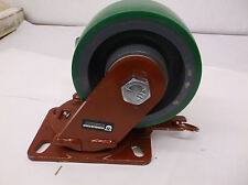 "6"" Swivel Plate Caster 1600 lb. Load Rating S-FM-6DB  (E68C)"